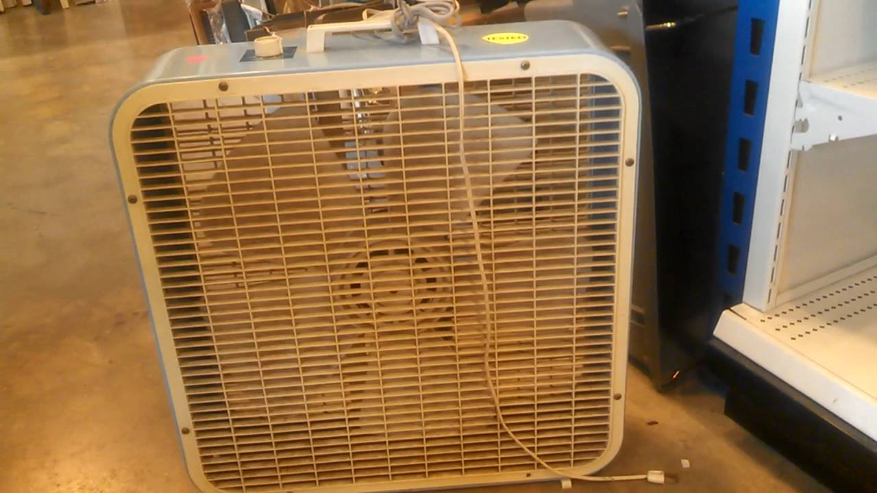 Kmart Box Fan : Kmart lakewood box fan in a thrift store youtube