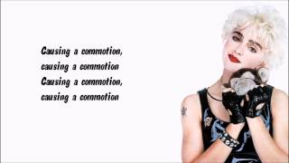 Madonna - Causing a Commotion Karaoke / Instrumental with lyrics on screen