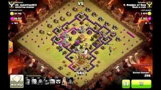 Clash of Clans Th9 GoWipe with EQ spells