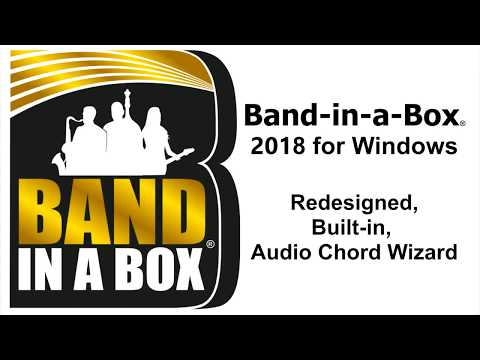 Audio Chord Wizard in Band-in-a-Box® 2018 for Windows