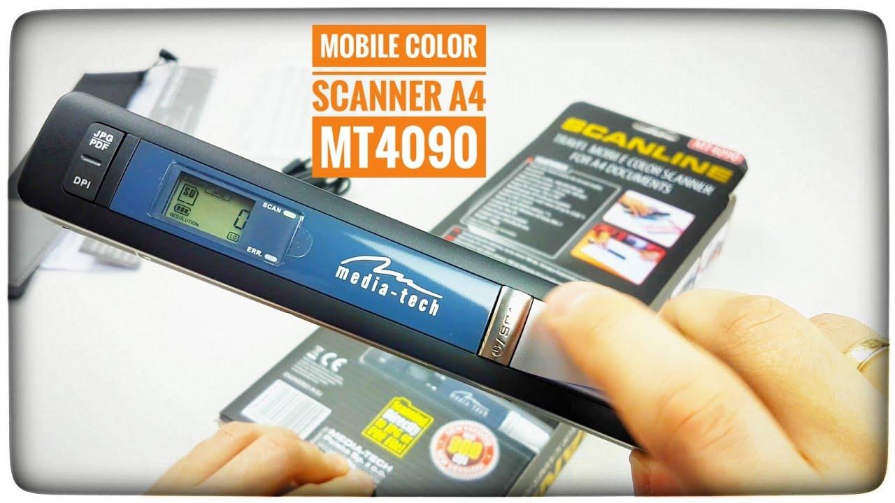 Media-Tech Travel Mobile Color Scanner A4 MT4090 Scanline Platinium Unboxing