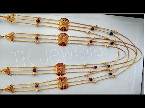 Latest Long Gold Necklace Designs   Gold Matar Mala