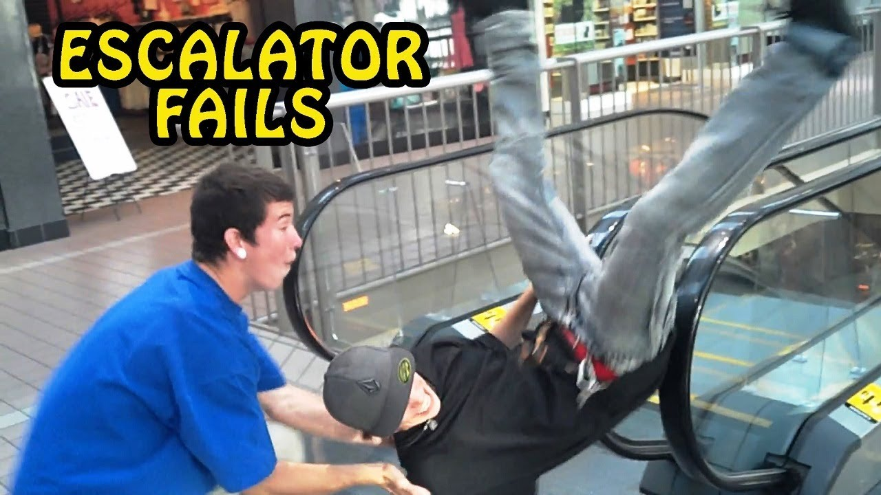 Humorous Escalator Fail Compilation 2017 [NEW]