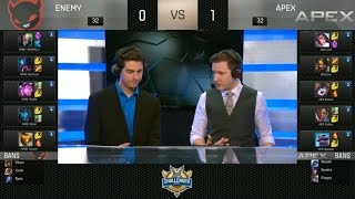 NME vs APX Highlights Game 2 - Enemy vs Apex - 2016 NA Challenger Spring