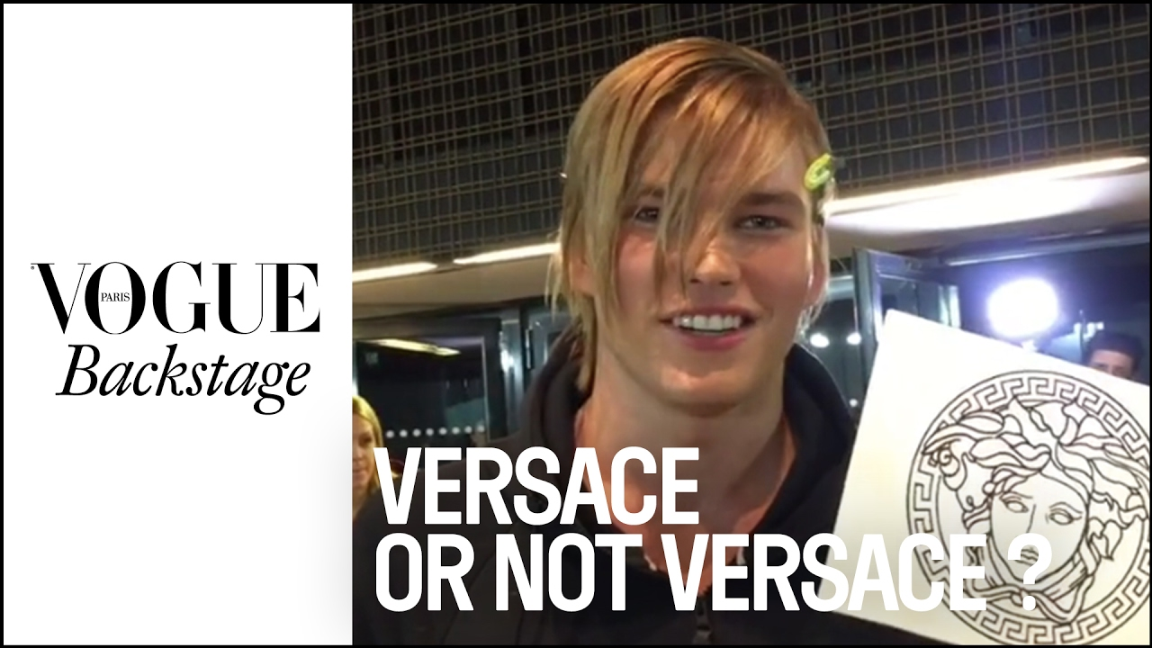 Versace or Not Versace? The models decide  | #VogueBackstage
