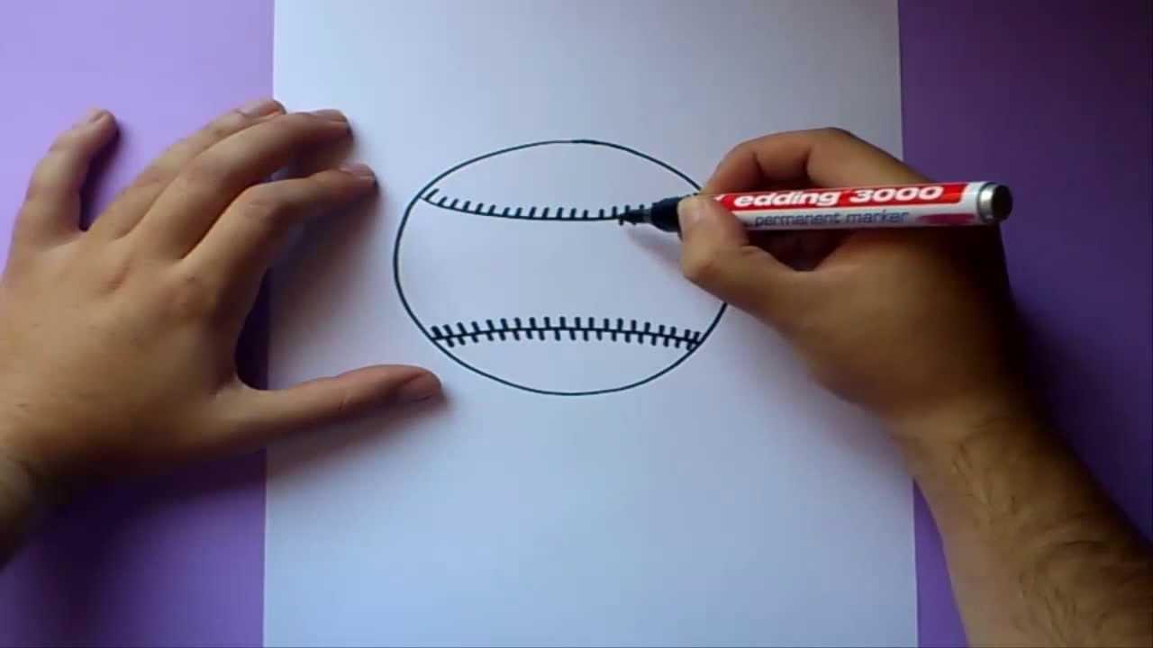 Como dibujar una pelota de baseball paso a paso | How to draw a ...
