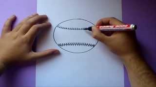 Como dibujar una pelota de baseball paso a paso | How to draw a baseball