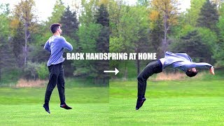 Learn Back Handspring Fast by Turning a 360 into a Backwards Flip with Hands