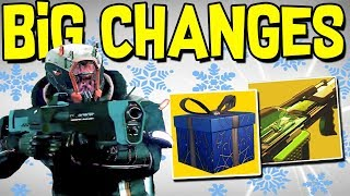 Destiny 2: DECEMBER UPDATE & NEW EXOTICS! Snow Environment, New Gear, & Economy Changes