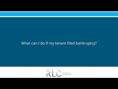 What can I do if my tenant filed bankruptcy?