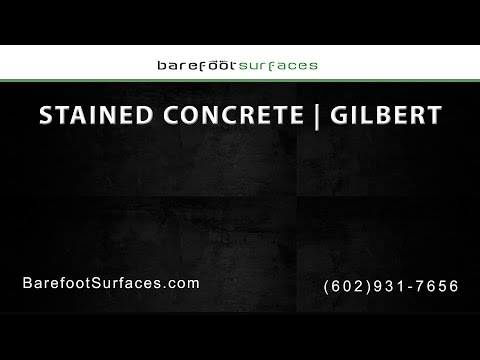 Gilbert Stained Concrete Services | Barefoot Surfaces