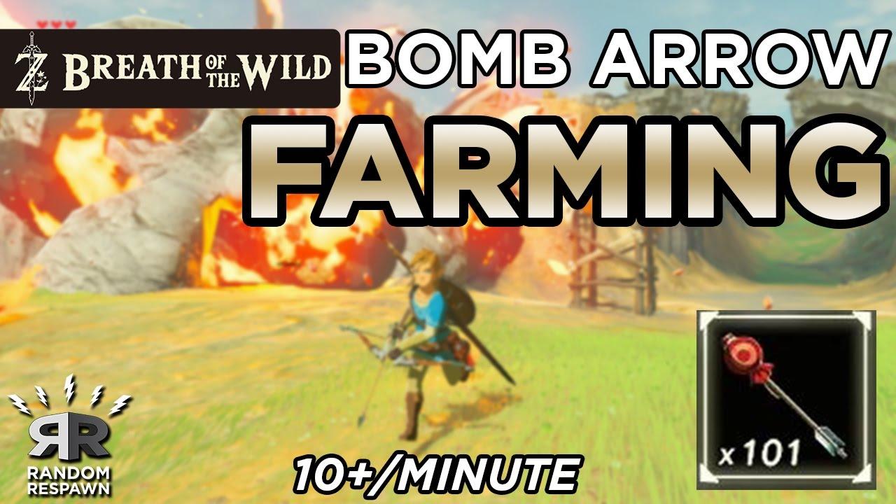 Zelda: Breath of the Wild - BEST BOMB ARROW FARMING (10+/minute!)