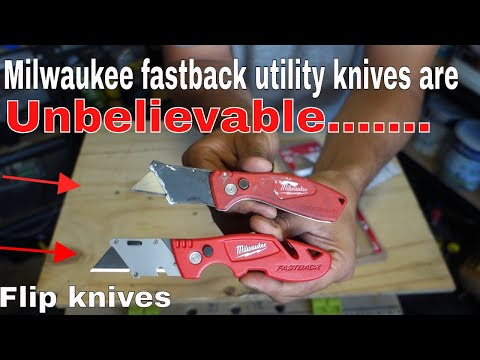 Milwaukee fastback utility knife with storage review vs compact
