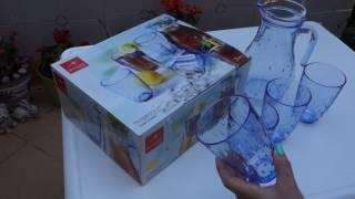 Обзор стаканы и графин для напитков Италия Niagara