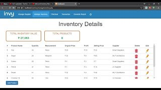 Sales and Inventory Management System -  PHP MYSQL Project