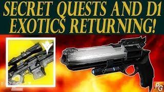 Destiny 2: D1 Exotics Returning, New Exotic Quests, New Collectibles! (Destiny 2 News)