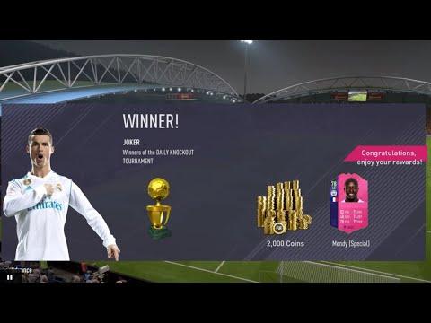 FIFA 18-Winning daily knockout tournament - براڕۆ تیمەکەی زەخمە 😵