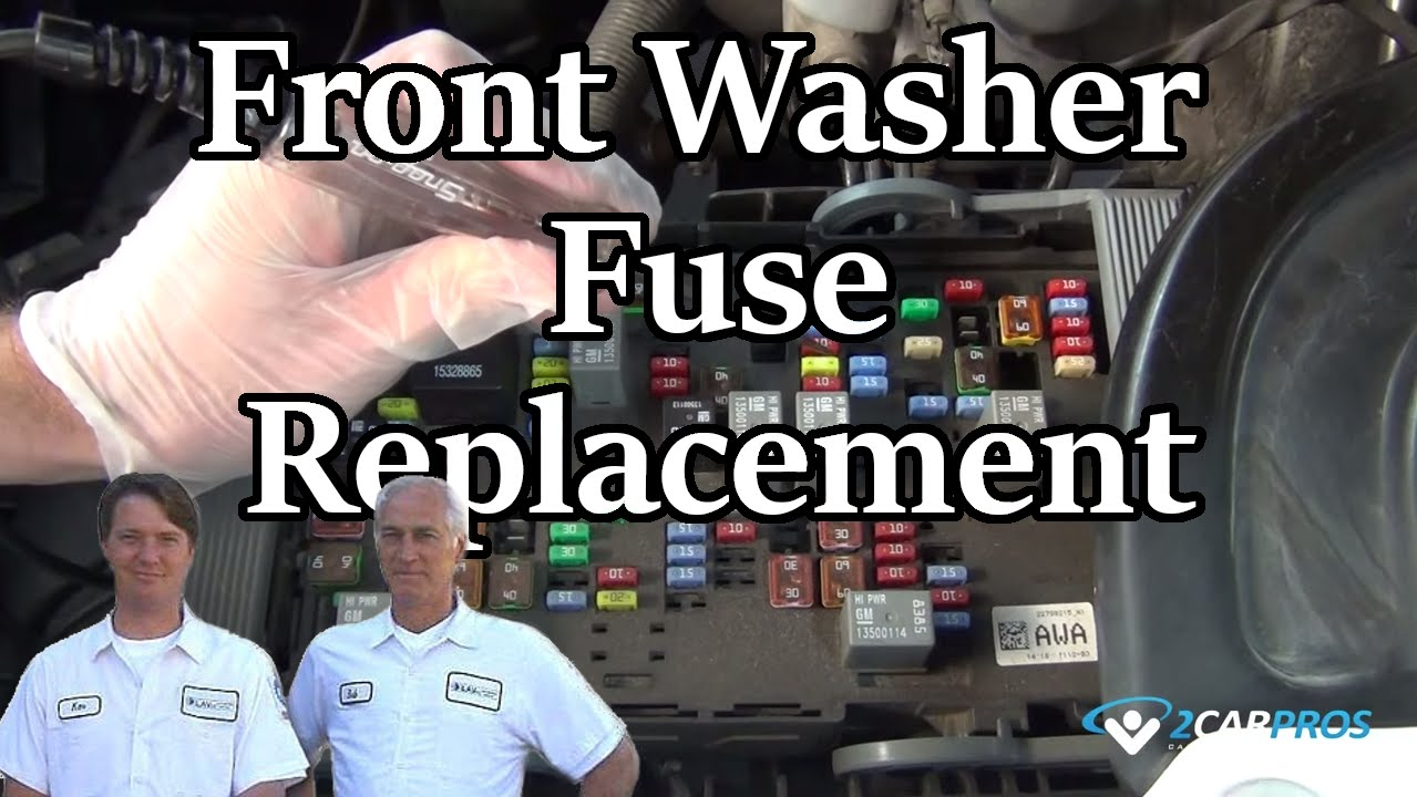 Front Washer Fuse Replacement Youtube 2003 Cadillac Escalade Box Diagram