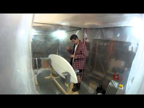 How to Build a Shortboard Surfboard - 11 - Marking Deck Rail Bands