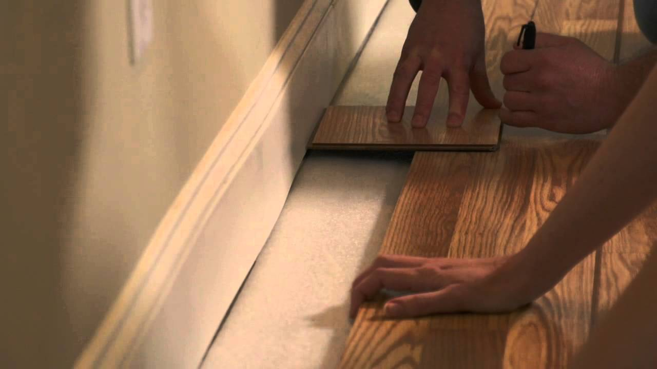 How To Install Pergo Flooring Chapter 6 Last Row For