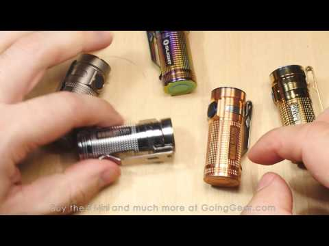 Olight S Mini Extended Review - Titanium and Copper Limited Edition Flashlights