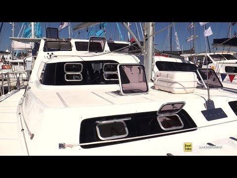 2015 Royal Cape Catamarans Majestic 530 - Deck, interior Walkaround - 2015 Annapolis Sail Boat Show