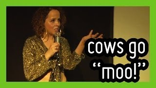 'Cows Moo in Different Accents' - funny stand up comedy by Luisa Omielan | ComComedy