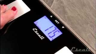 How to Setup & Use - Escali Health Monitor Bath Scale - USHM180G