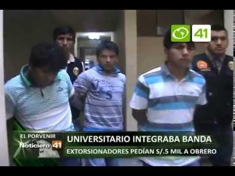 Alumno de la UNT integraba banda de delincuentes - Trujillo