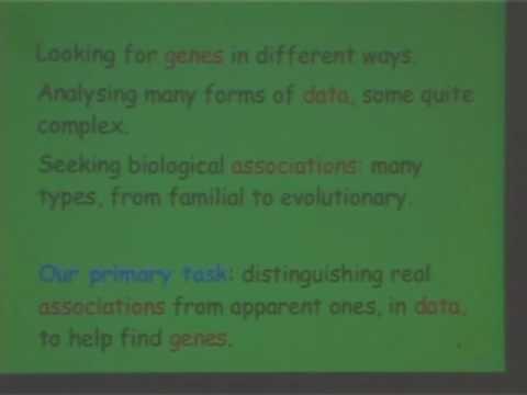 IMS Public Lecture: Genes, Disease and Genetic Diseases