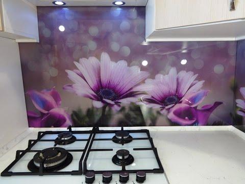 Кухонный фартук из стекла. Скинали. Цветы диморфотеки. TM Pavlin Art г.Днепр.