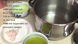 طريقة إعداد القديد او الخليع المغربي  Homemade Moroccan Dry Meat Gueddid Or Khlii