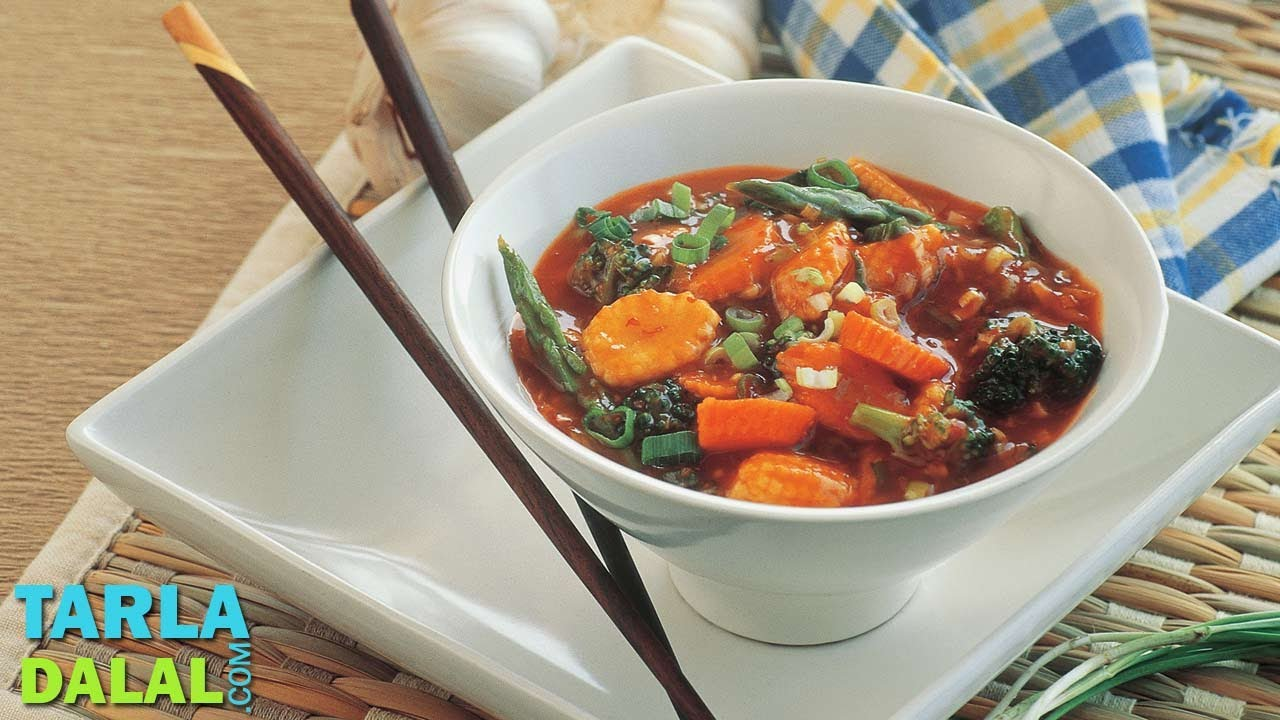 vegetables in hot garlic sauce recipe by tarla dalal youtube forumfinder Gallery