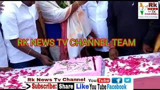 RK NEWS TV BIRTHDAY CELEBRATE MR SHRINIVAS WITH MR WAHID ALI MINARTY PRASENDT RAM NAGAR DIVISION