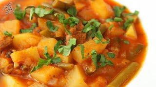 Превосходный Ужин из Доступных Продуктов! Тушеное Мясо с Картошкой. Вкусный Рецепт