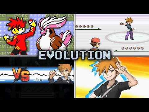 Evolution Of Trainer Blue Battles In Pokémon Games (1996 - 2016)