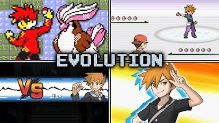 Evolution of Trainer Blue Battles in Pokémon games (1996 - 2016)