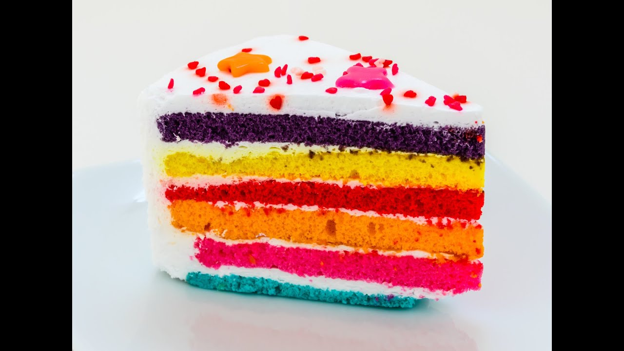 How To Make A Rainbow Cake Howtobasic