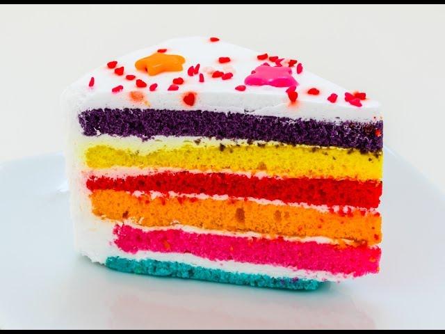 How To Make a Rainbow Cake