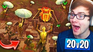 When EVERYONE Lands TILTED TOWERS In NEW 20v20 TEAM MODE! (Fortnite: Battle Royale Funny Moments)
