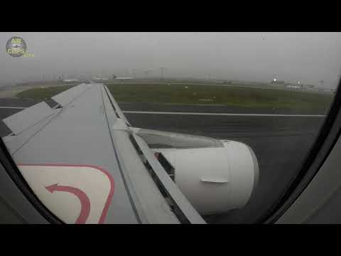 Lovely Braking Action! Airbus A320 Landing In Frankfurt After Long Flight From Jeddah! [AirClips]