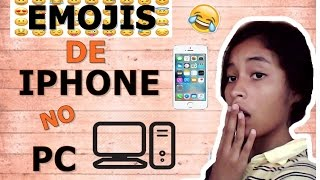 COMO COLOCAR EMOJIS DE IPHONE NO PC!!