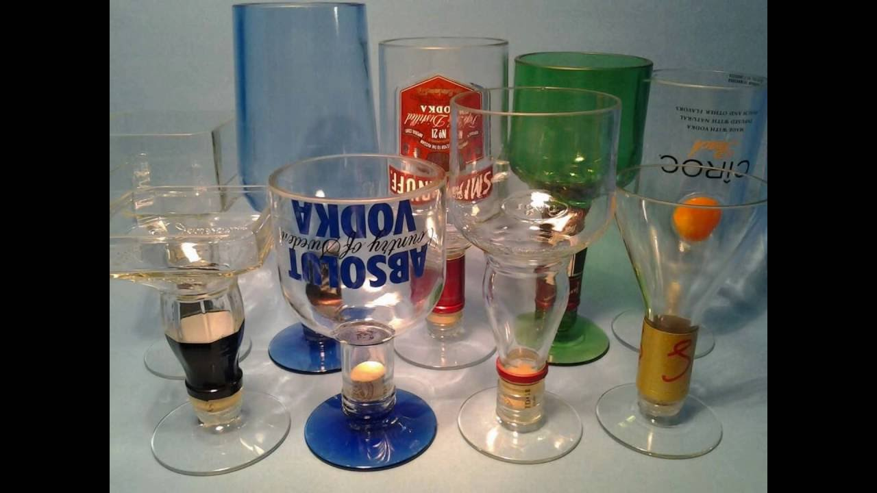 liquor bottle wine glasses by bottle heaven youtube