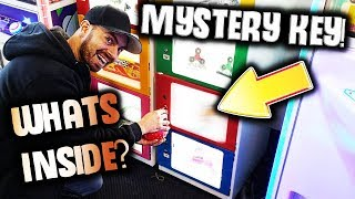 He Won A Mystery Key At The Arcade! What Will It Open? ArcadeJackpotPro