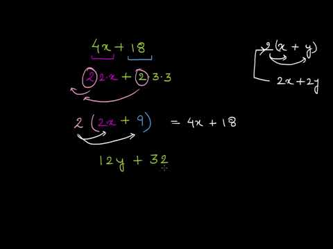 Factoring with the distributive property (Hindi) | Class 8 (India) | Khan Academy