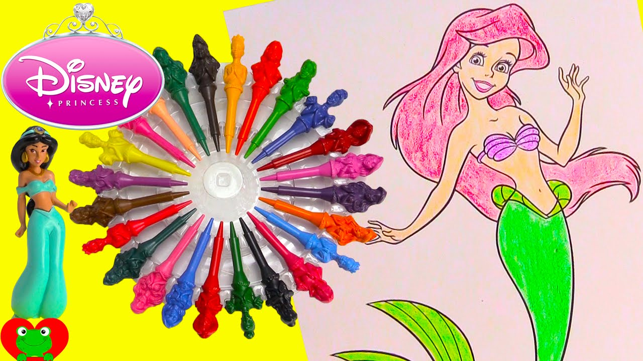 Disney Princess Coloring Page with Shopkins and Surprises   YouTube Disney Princess Coloring Page with Shopkins and Surprises