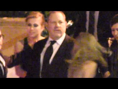Harvey Weinstein Leaves A 2013 Golden Globes Party With Two Young Blondes