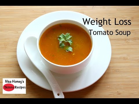 Weight Loss Tomato Soup Recipe - Oil Free Skinny Recipes - Weight Loss Diet Soup - Immune Boosting