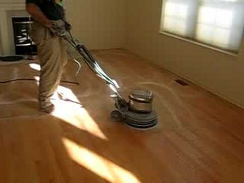 Buffing Hardwood Floors Youtube