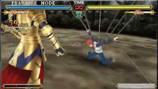 Gilgamesh Holy Grail Combo PSP Fate / Unlimited Codes